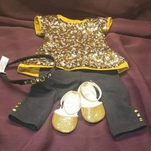 American Girl Golden Sparkle Outfit